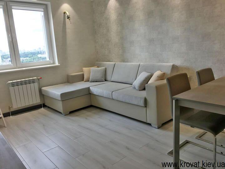 нераскладной угловой диван в кухню на заказ