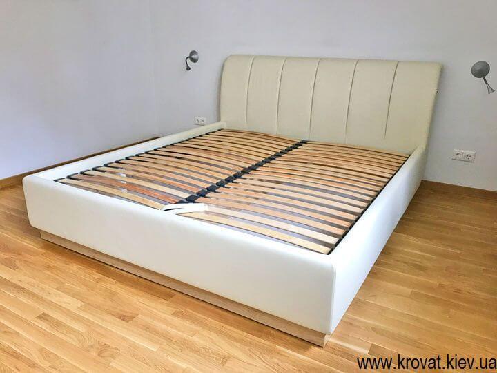 двуспальная кровать с ортопедическим матрасом на заказ