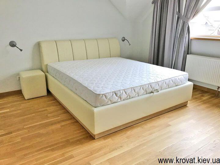 кровать с ортопедическим матрасом с подъемным механизмом на заказ