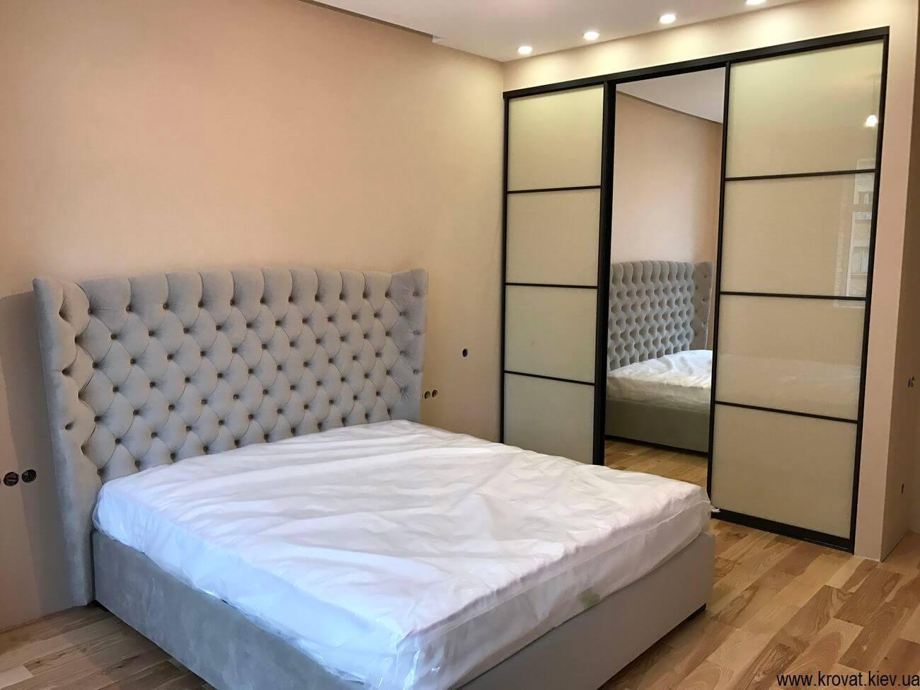 встроенный шкаф купе для спальни на заказ купить в киеве