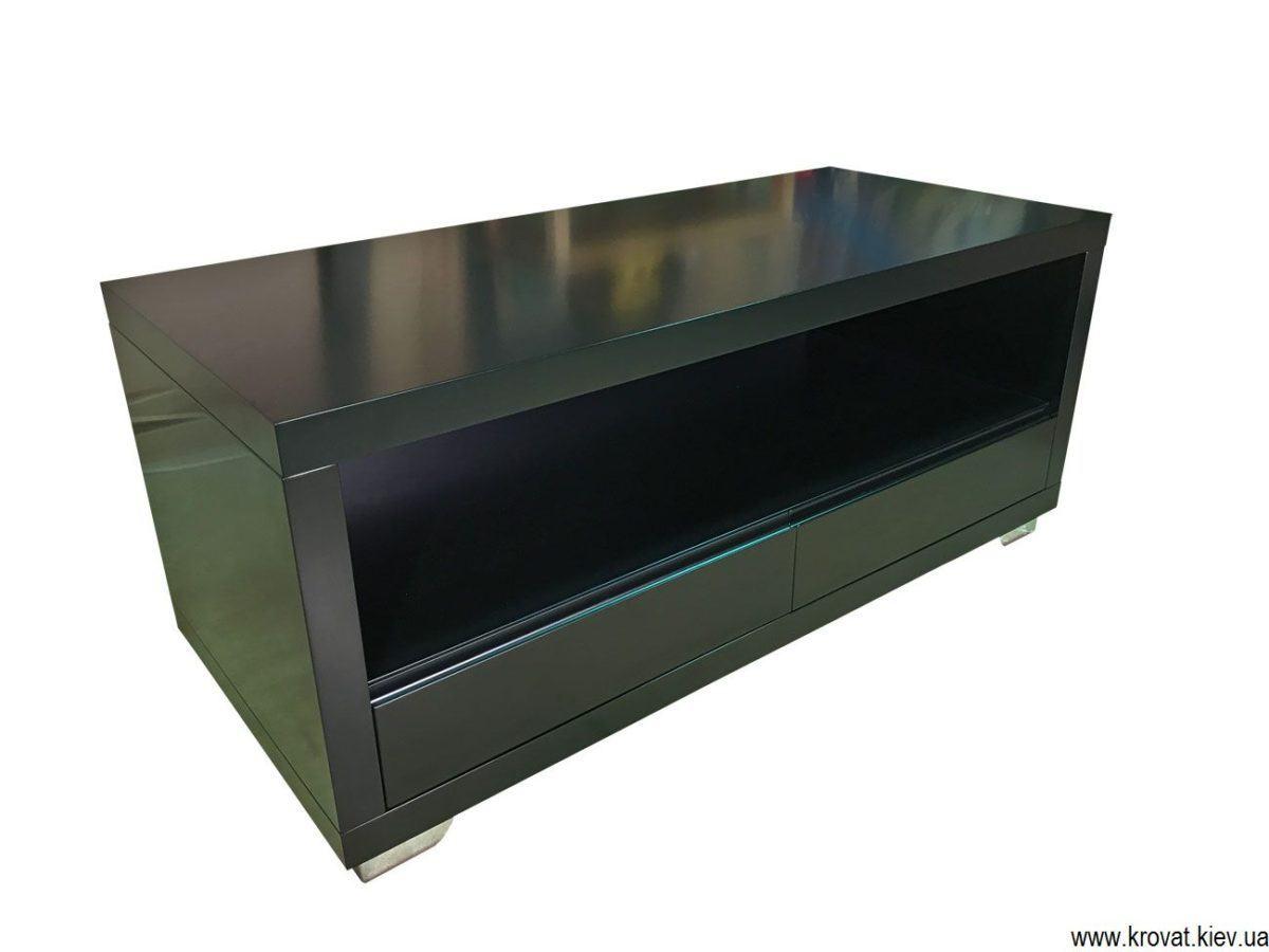 черная тумба под телевизор