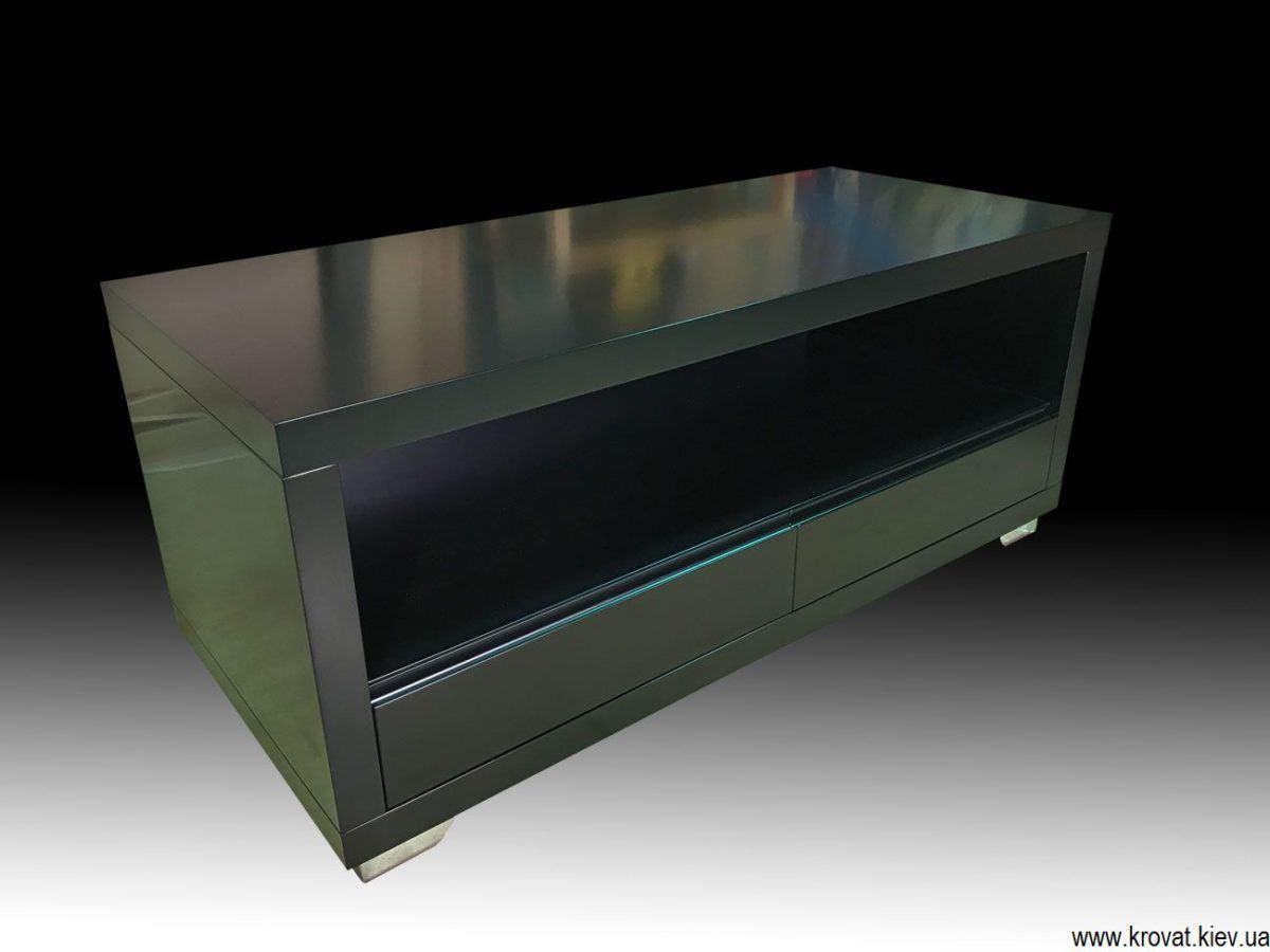 черная тумба под телевизор на заказ