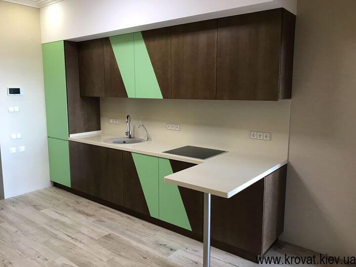 кухня без ручек в интерьере