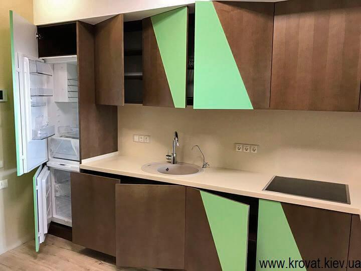 кухня с открыванием без ручек