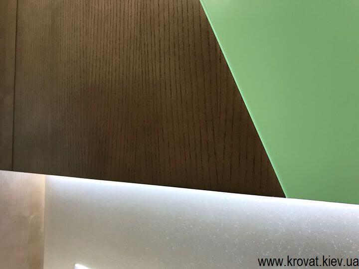 фасады кухни из шпона и покраски