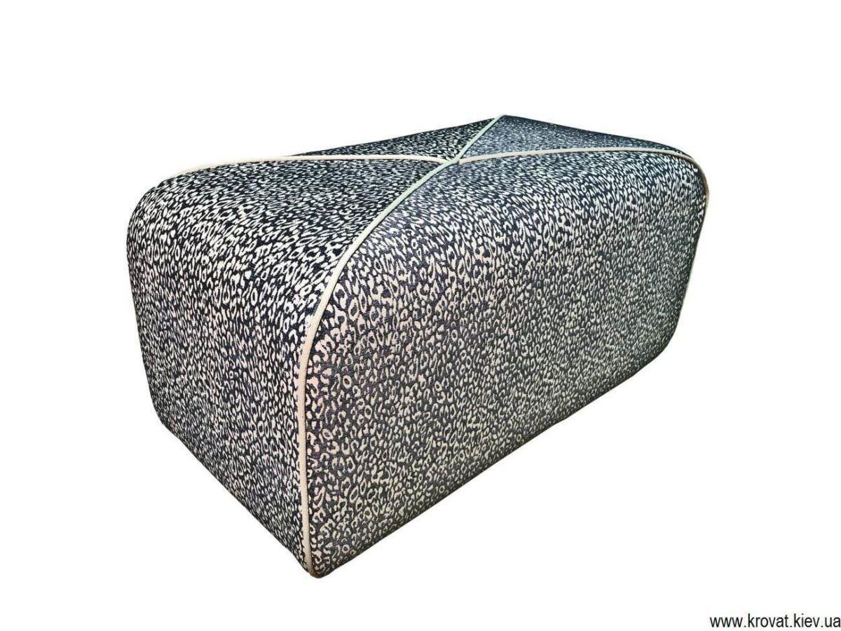 прямоугольный пуф с кантом