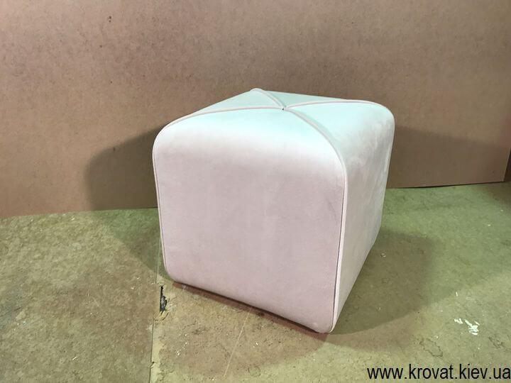 квадратный пуфик с кантиком на заказ