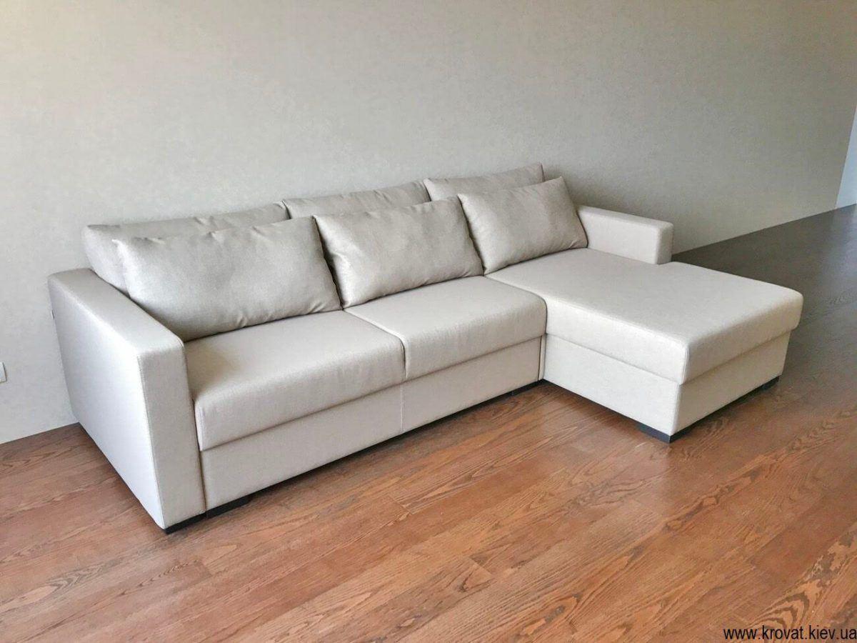 м'який кутовий диван-ліжко на замовлення