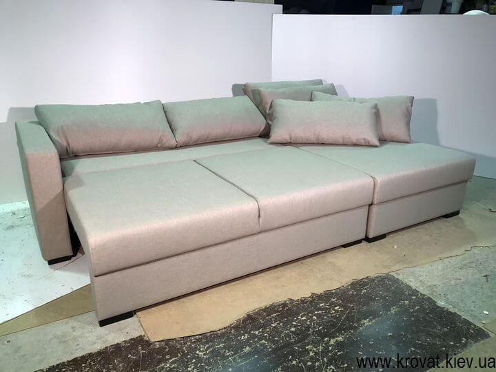 раскладывающийся угловой диван-кровать на заказ