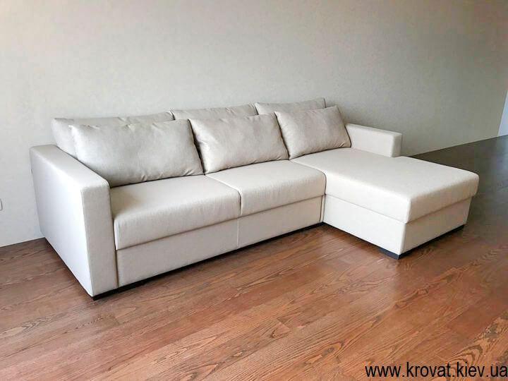 кутовий диван-ліжко для вітальні
