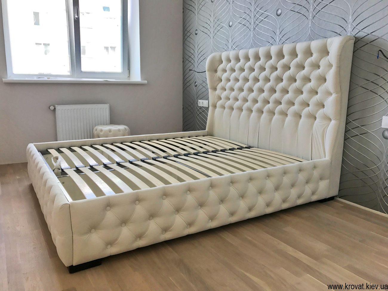 кровать с капитоне с подъемным механизмом на заказ