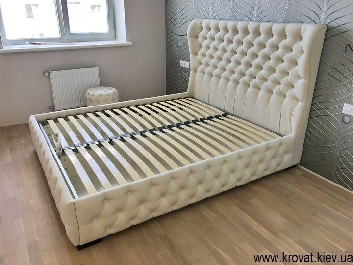 кровати в спальню на заказ с капитоне
