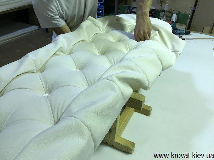 изготовление кроватей на заказ с капитоне