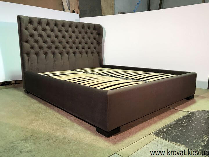 кровать с обивкой на заказ