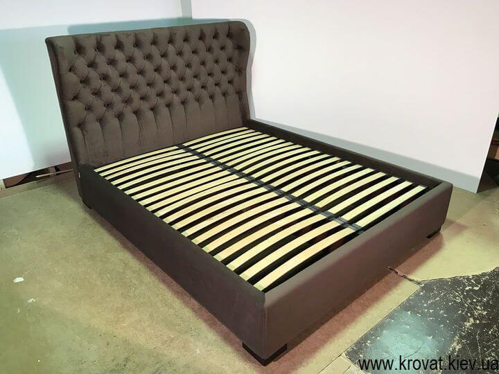 кровать в тканевой обивке на заказ