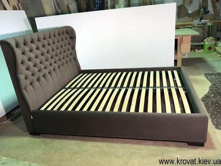 кровать с обивкой из ткани на заказ