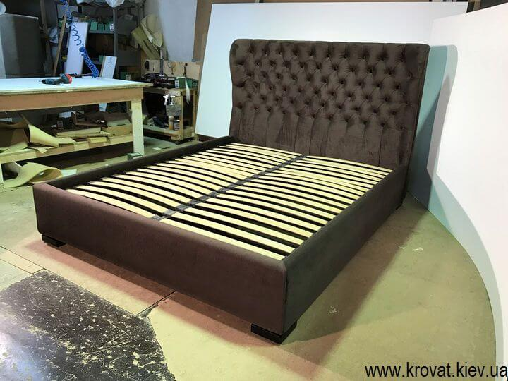 кровать в ткани флок на заказ
