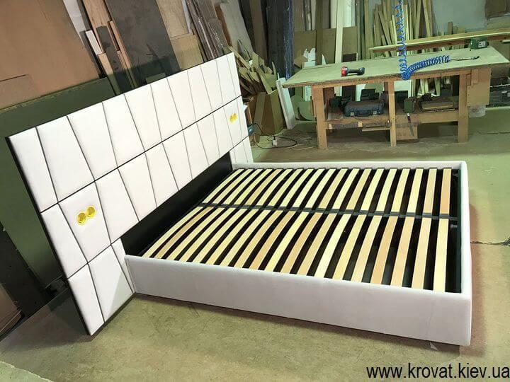 изготовление кроватей с розетками на заказ