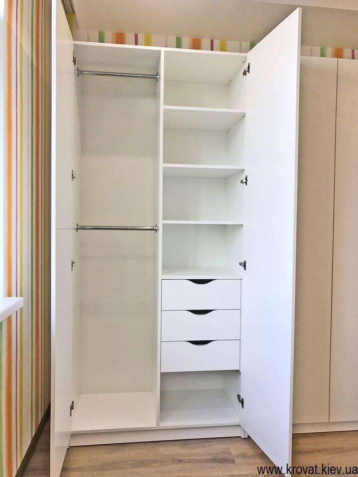 Распашной шкаф в детскую из ДСП на заказ