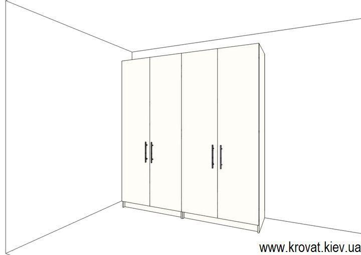 проект шкафа с распашными дверьми на заказ