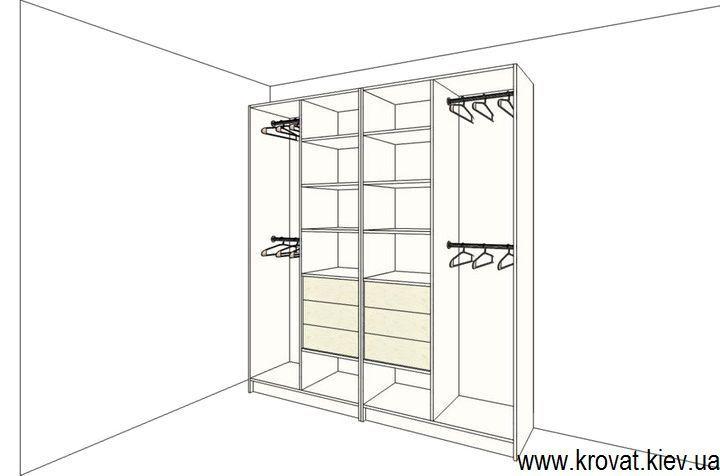 проект наполнения шкафа в детскую на заказ