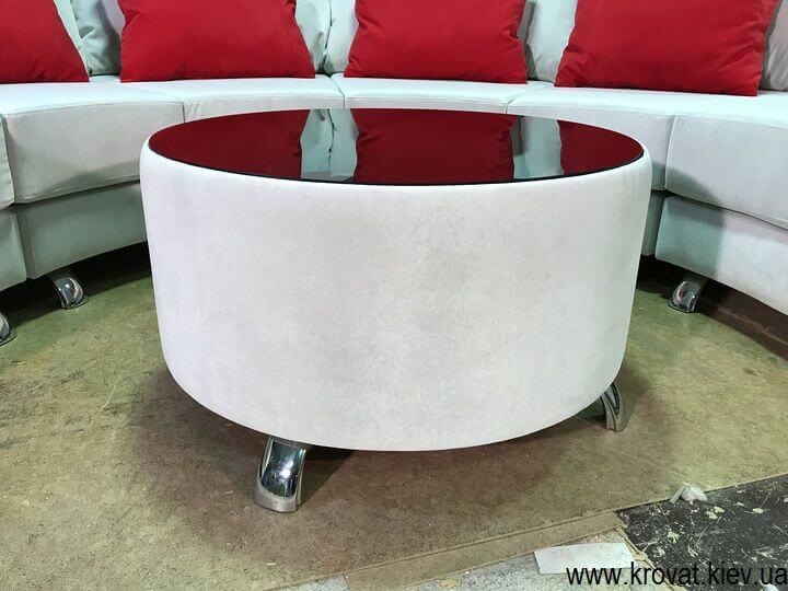 приставних столик зі склом для дивана