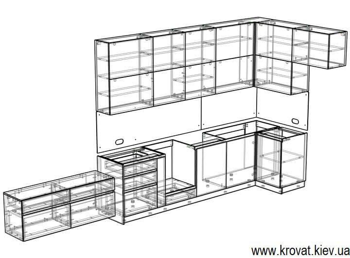 проект кухни servo-drive на заказ