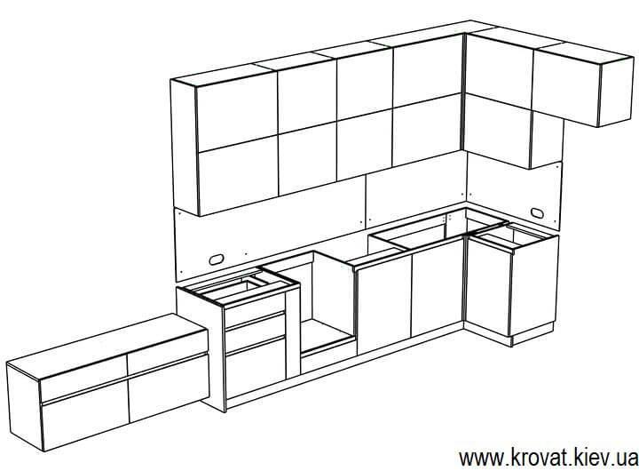 эскиз кухни servo-drive на заказ