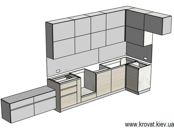 чертежи кухни servo-drive на заказ