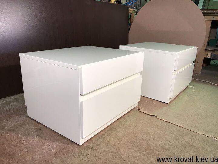белые прикроватные тумбочки на заказ