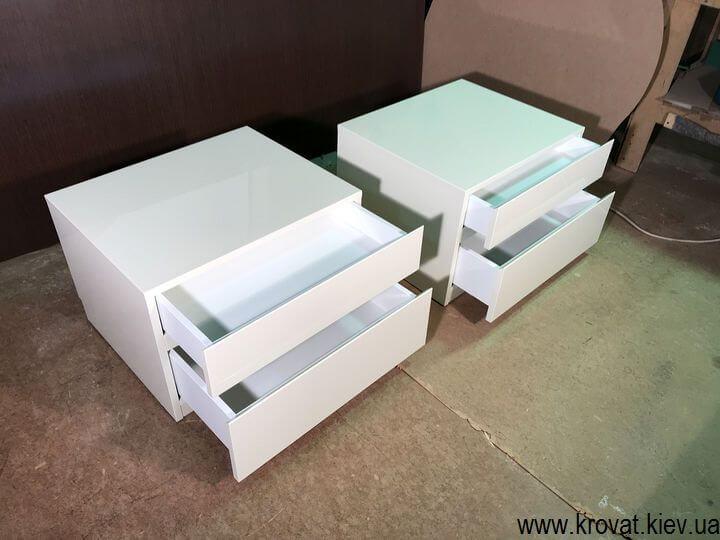 прикроватные тумбочки с ящиками на заказ