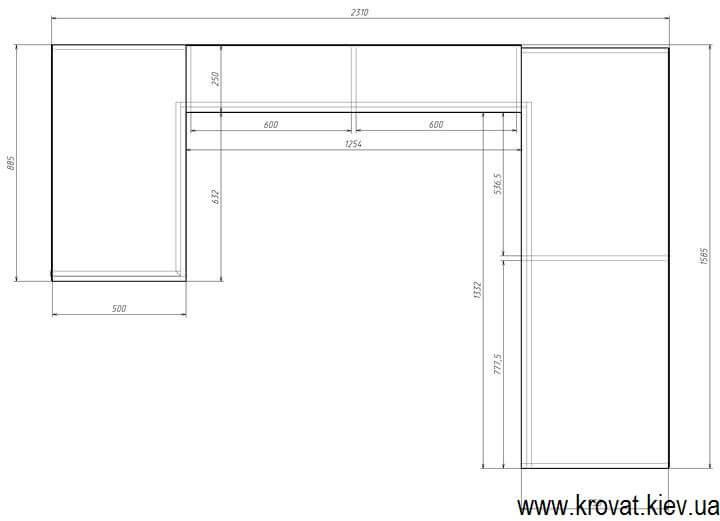 проект П образної вбиральні з розмірами