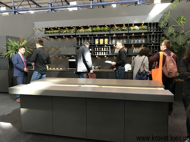 мебель для кухни на выставке kiff 2018