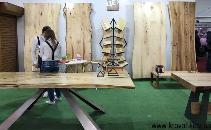 столы со слэба на выставке