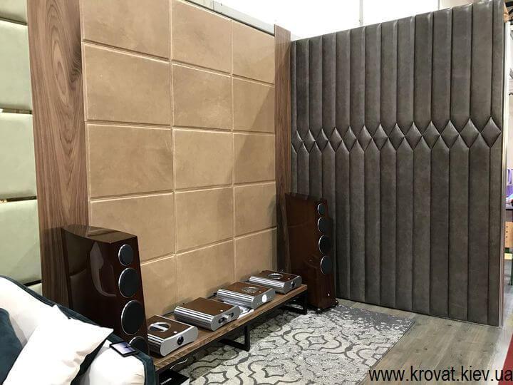мягкие стеновые панели на выставке