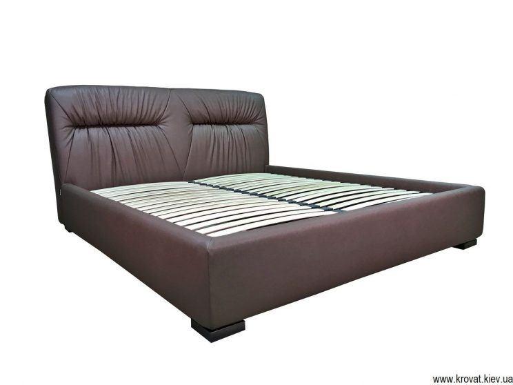ліжко в спальню з м'яким узголів'ям