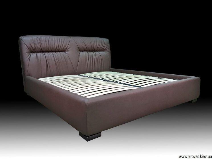 ліжко в спальню з м'яким узголів'ям на замовлення