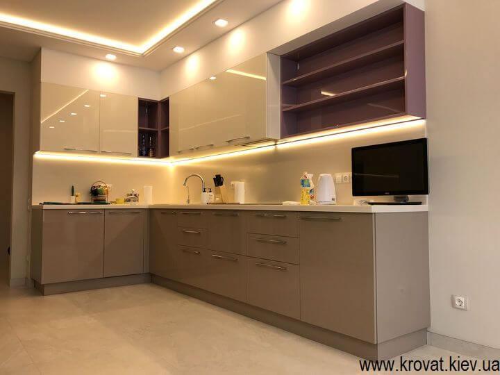 кухни со светодиодной подсветкой