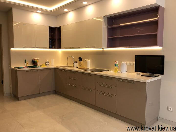 кухни со светодиодной подсветкой на заказ