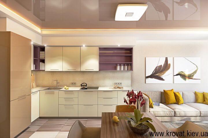 3D визуализация кухни с диодной подсветкой