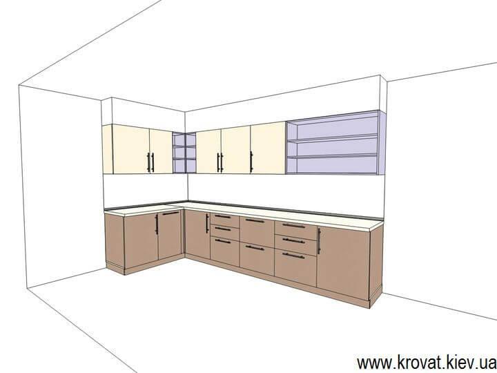 проект кухни со светодиодной подсветкой