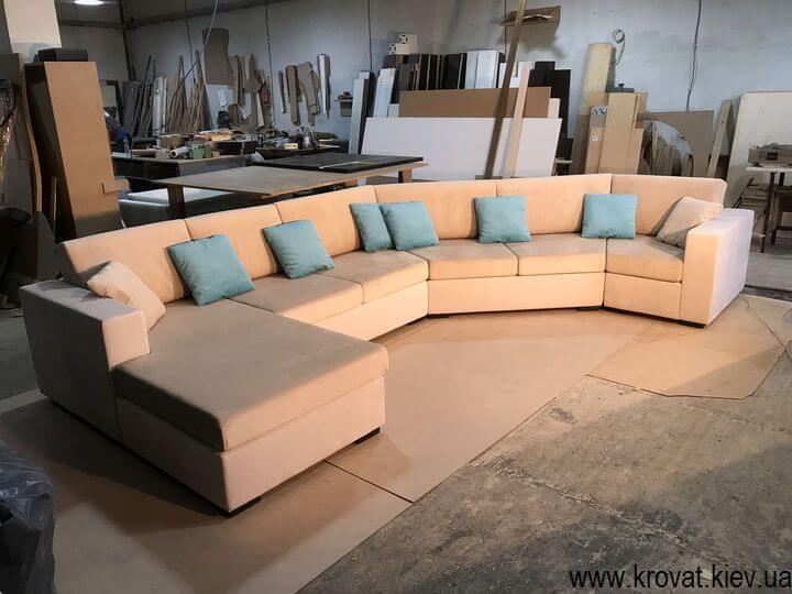 диван с углом 135 градусов на заказ