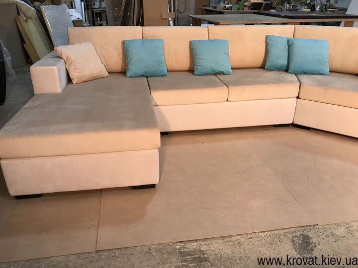 угловой диван с нестандартным углом