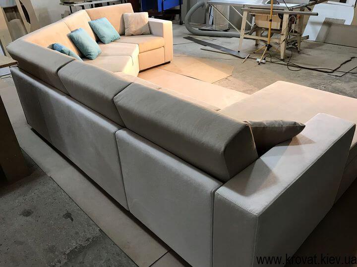 изготовление диванов с углом 135 градусов