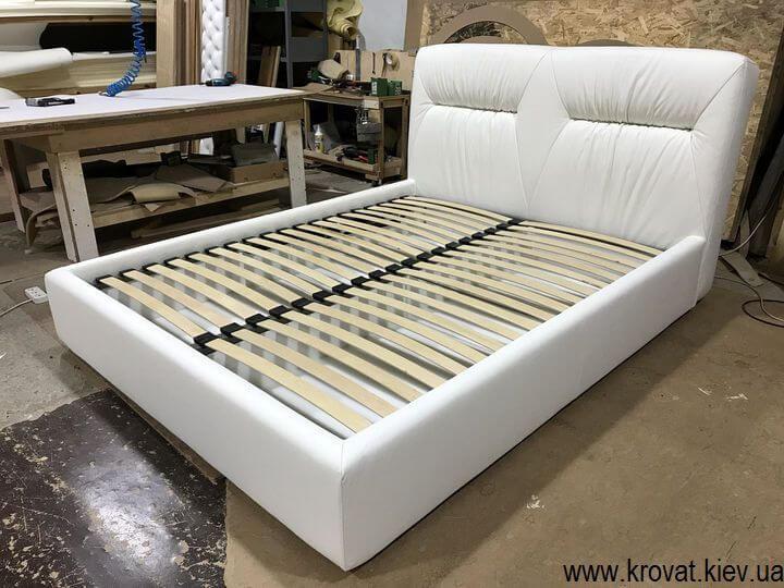 кожаная кровать с ящиком для белья на заказ