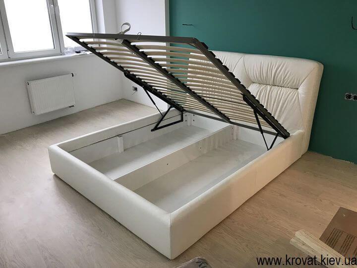 шкіряне ліжко з підйомним механізмом на замовлення