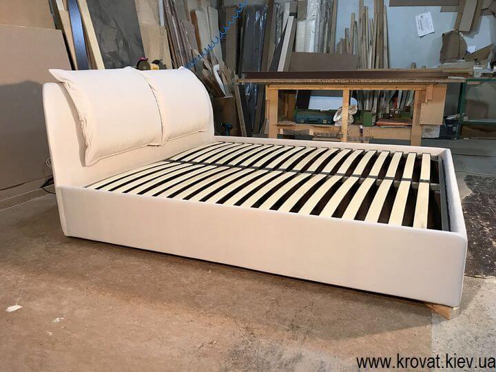 ліжко спинкою в кут спальні на замовлення