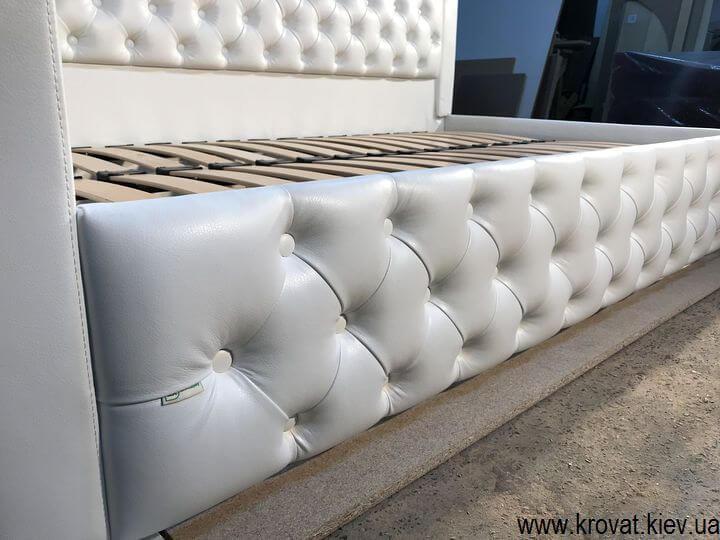 белая кровать для девочки на заказ