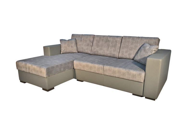 кутовий диван сірого кольору