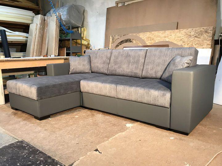 угловой диван серого цвета на заказ